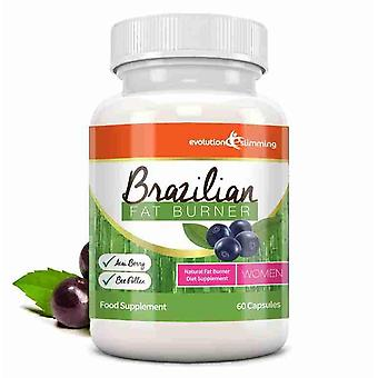Brazilian Fat Burner for Women - 60 Capsules - Fat Burner - Evolution Slimming
