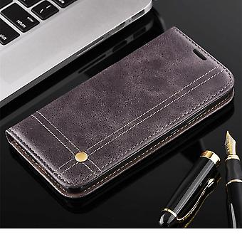 Cell phone cover case voor Samsung Galaxy S9 + cover Wallet case grijs