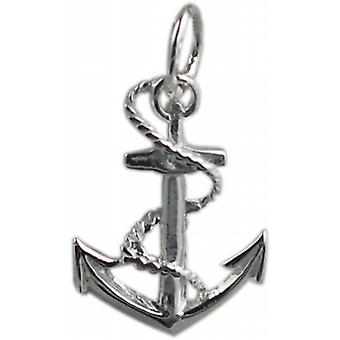 Silver 17x13mm Anchor Pendant or Charm