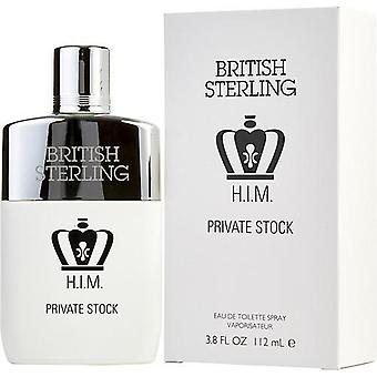 British Sterling Him Private Stock By Dana Edt Spray 3.8 Oz