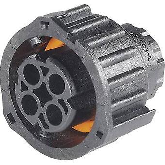 Round connector for DIN 72585 3 - to 7-pin, pin and socket Plug housing