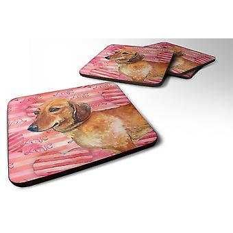 Carolines Treasures  BB9739FC Set of 4 Dachshund Love Foam Coasters Set of 4