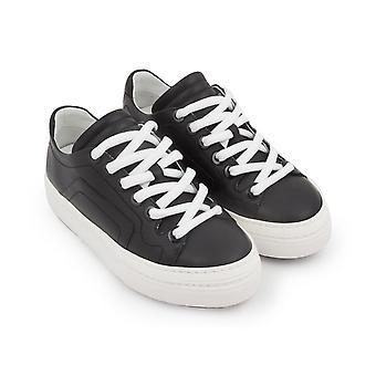 Pierre Hardy women's sneakers in black Calf leather