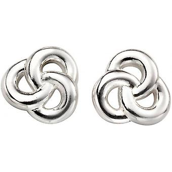 Beginnings Celtic Knot Stud Earrings - Silver