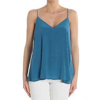 Ottod'ame ladies GINET86331516 light blue silk top