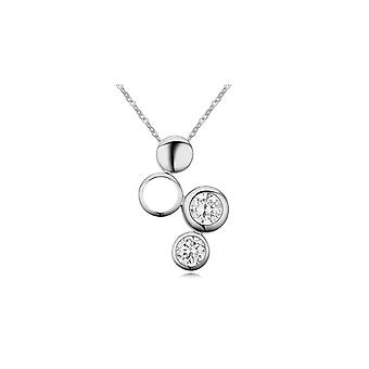 Pendant waterfall Crystal Cubic Zirconia white and Rhodium plate