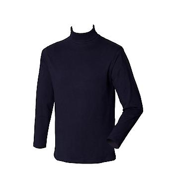 Henbury Mens Turtle Roll Neck Long Sleeve Top