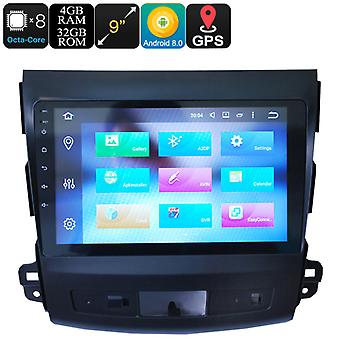 9 Inch One Din Car Stereo - Android 8.0, Octa-Core, 4+32GB, 3G, 4G, Can Bus, GPS, Bluetooth, For Mitsubishi Outlander