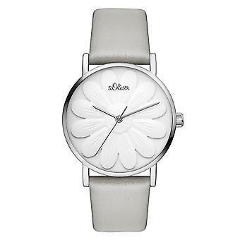 s.Oliver women's watch wristwatch leather SO-3471-LQ