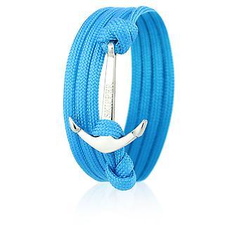 Skipper anchor bracelet bracelet nylon in light blue with a silver anchor 6622