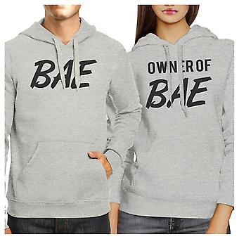 Bae And Owner Of Bae Funny Matching Grey Hoodies For Couples Gifts