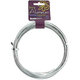 Aluminum Wire Flat Smooth 1X5mm 8 Meters/Pkg (26.25')-Silver