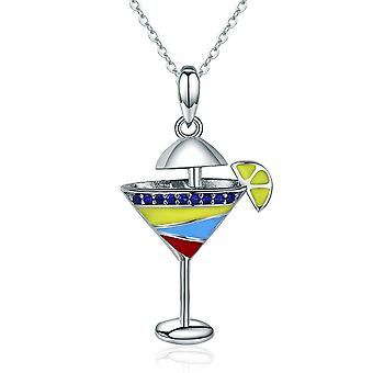 Sterling silver pendant charm Summer drink SCN250