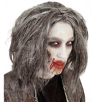 Zombie grey Halloween horror wig