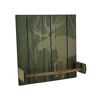 Rustic Wood Wildlife Hanging Paper Towel Holder
