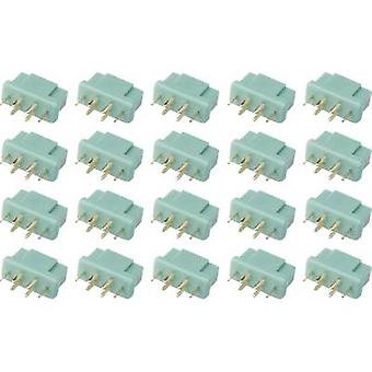 Battery receptacle MPX Gold-plated 20 pc(s) Reely