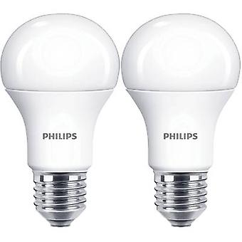 Philips Lighting LED EEC A+ (A++ - E) E27 Arbitrary 13 W = 100 W Warm white (Ø x L) 60 mm x 110 mm 2 pc(s)