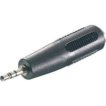 SpeaKa Professional 325104 Jack Audio/phono Adapter [1x Jack plug 2.5 mm - 1x Jack socket 3.5 mm] Black