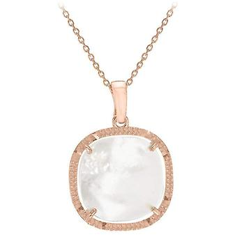 IBB London Square Mother of Pearl Pendant - Rose Gold