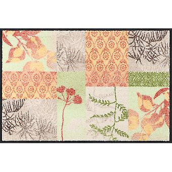 Salon lion doormat feel good washable dirt mat floral