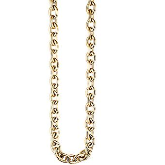 Chain necklace stainless steel gold necklace 49 cm lobster coated colors