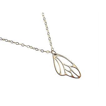 Vlinder vleugel ketting hanger brons vergulde vleugel