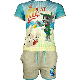 Boys ER1255 Paw Patrol Short Sleeve T-Shirt & Shorts Set Size 3-6 Years