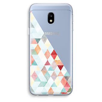 Samsung Galaxy J3 (2017) Transparent Case (Soft) - Coloured triangles pastel