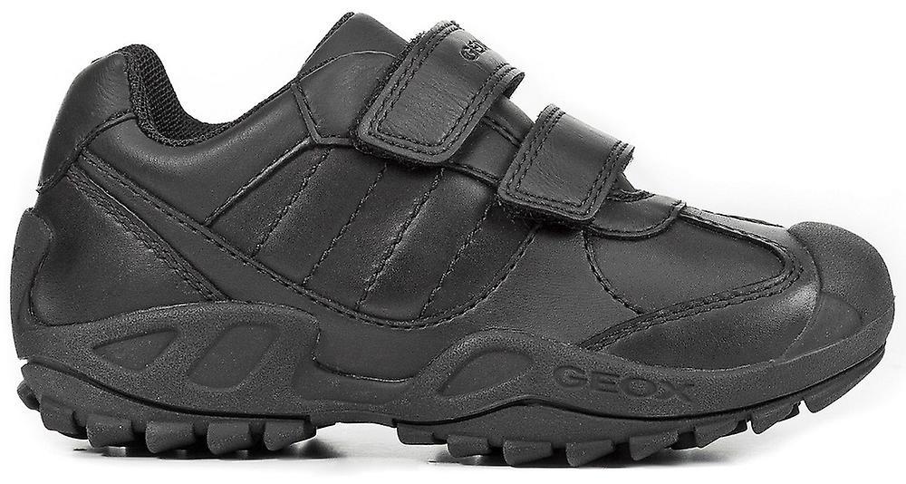 Les garçons Geox Savage J841VB école chaussures noir