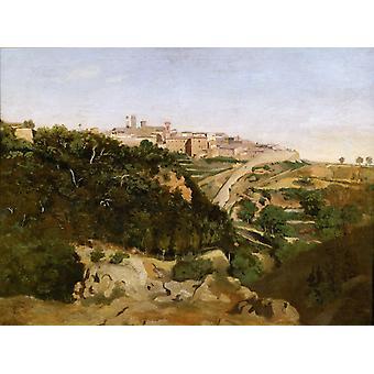 Volterra, Jean-Baptiste Camille Corot, 50x40cm