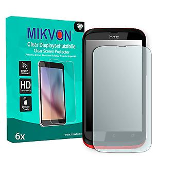 HTC T328h Screen Protector - Mikvon Clear (Retail Package with accessories)