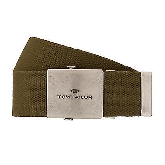 TOM TAILOR textile belt men belt jeans olive 7679