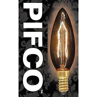 PIFCO Vintage Candle GLS Globe Squirrel Cage B22 E27 E14 Light Bulbs