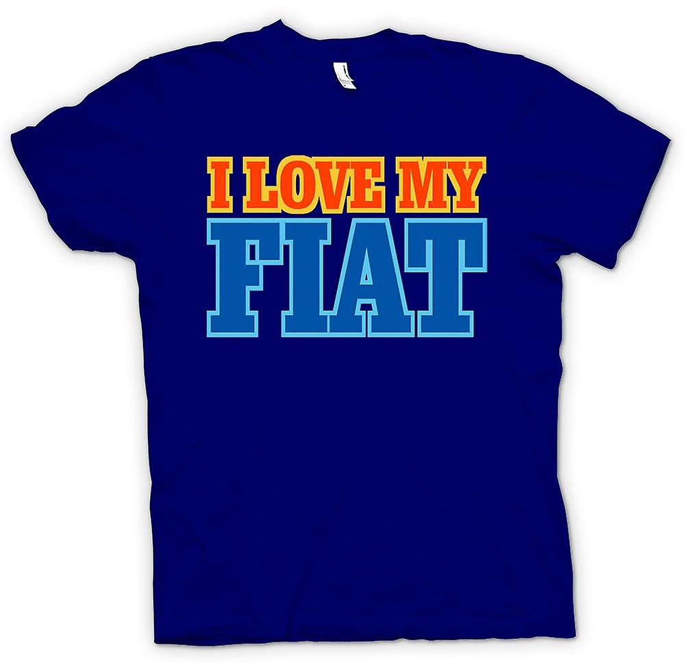 Mens T-shirt - I Love My Fiat - Car Enthusiast