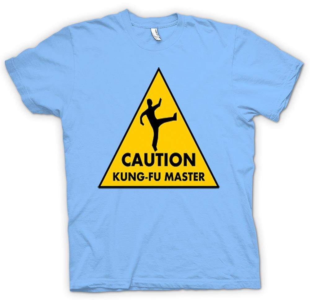 Herr T-shirt - varning - Kung Fu Master varningstecken