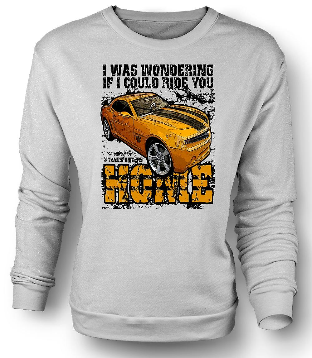 Mens Sweatshirt Transformers - Ride You Home