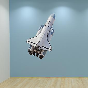 Full Colour Space Rocket Wall Sticker