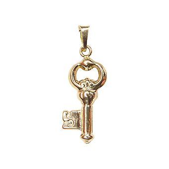 14 k gold key pendant