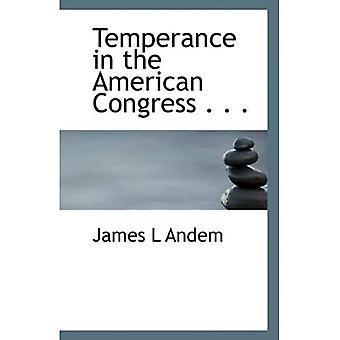 Templanza en el Congreso americano...