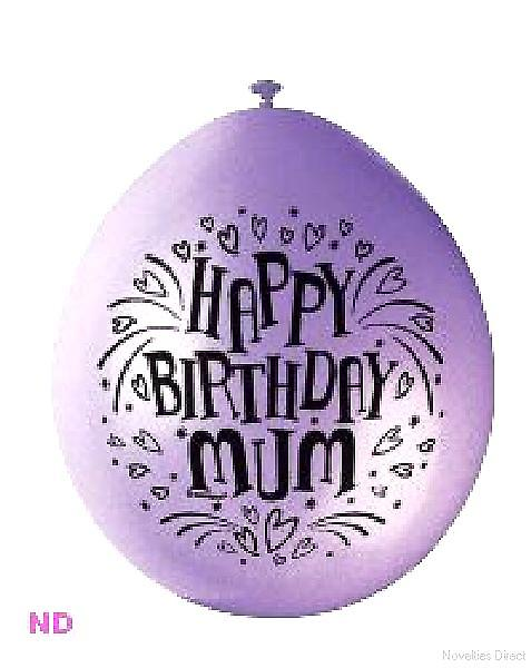 "Balloons HAPPY BIRTHDAY MUM 9"" Latex Balloons (10)"