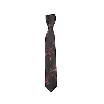 Boys Paisley Neckties Kids Formal Ties In Black And Orange