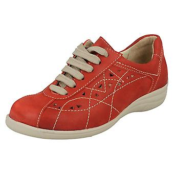 Ladies Easy B Lace Up Flat Casual Shoes Hornsea