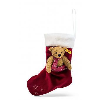 Steiff Teddy bear Christmas strømpe med 15 cm