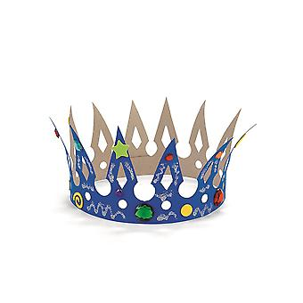 12 Design Your Own Blank Card Crowns to Colour & Decorate