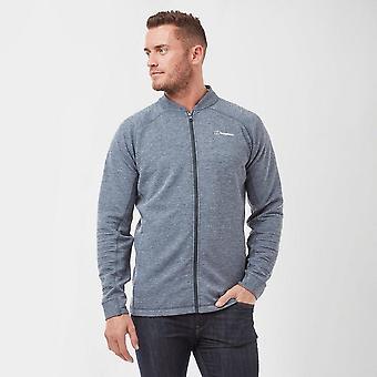 New Berghaus Men's Caldey Collar Neckline Full Zip Jacket Grey