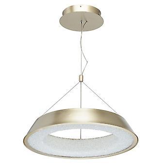Glasberg - pendentif LED réglable petit Matt Gold et blanc 703010801