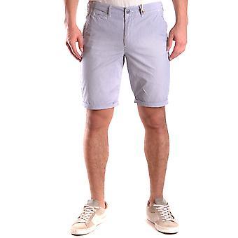 Shorts de algodão azul Woolrich