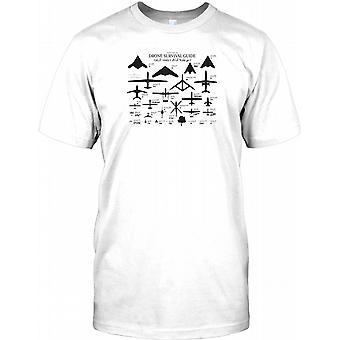 Drone Survival Guide - Awesome militære Design Kids T skjorte