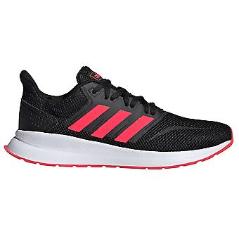 adidas Run Falcon Womens Ladies Running Trainer Shoe Black/Pink/White