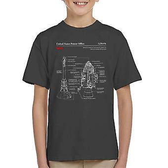 NASA Apollo CSM Escape System Blueprint Kinder T-Shirt